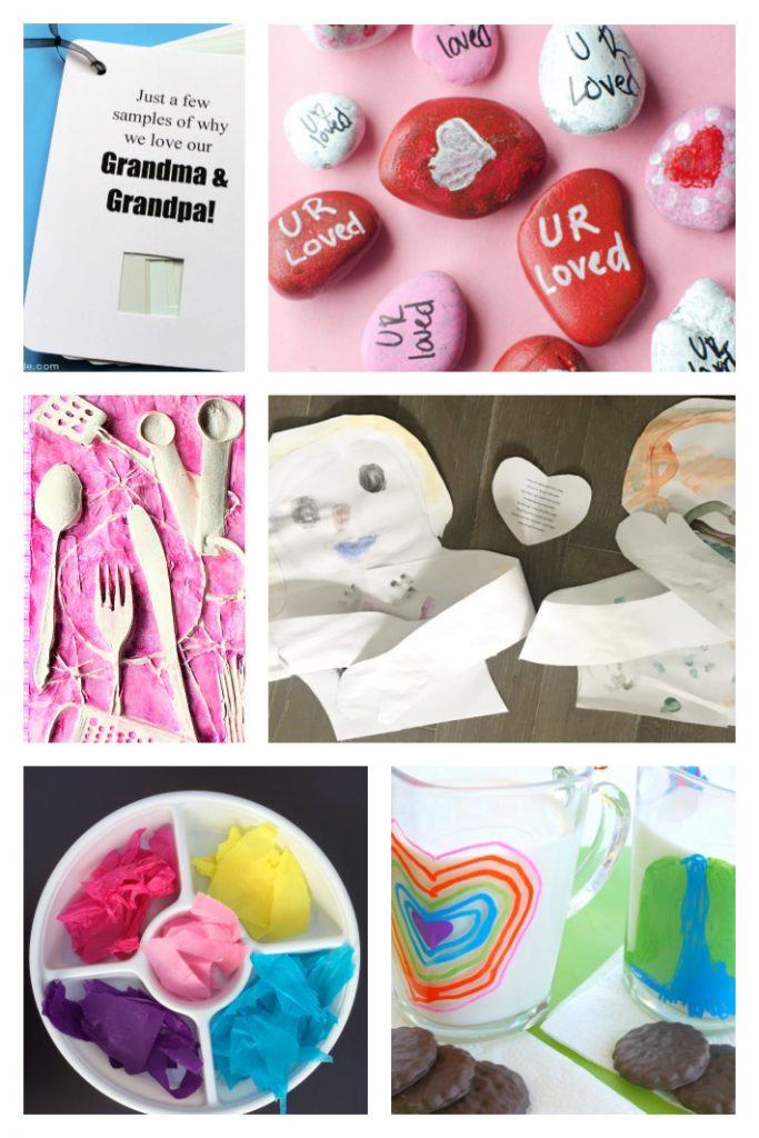 Grandparent day crafts that kids can make for or with grandparents - Kids Activities Blog - 6 grandparents crafts shown