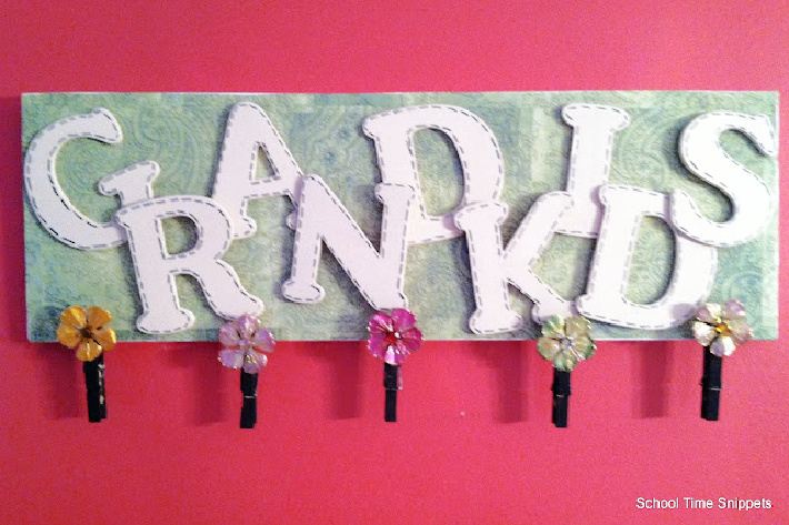 Make a grandkids photo rack from School Time Snippets