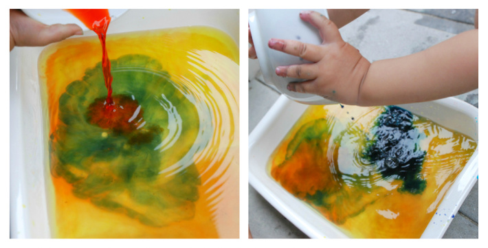 Step 1 color mixing activity for kids - Witches Brew science fun - Kids Activities Blog