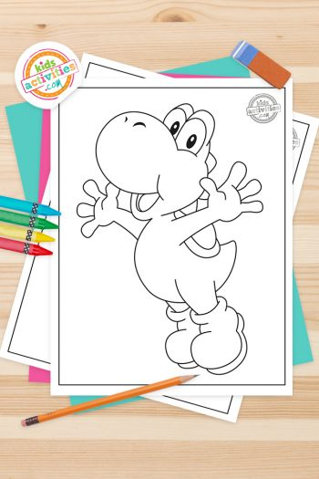 Yoshi Coloring Pages Feature Image