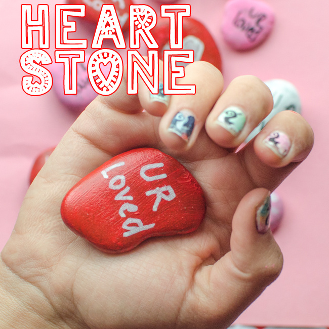 make painted heart rocks for grandparents day - Kids Activities Blog