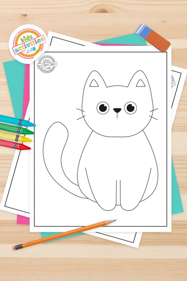 Black Cat Coloring Pages Feature Image