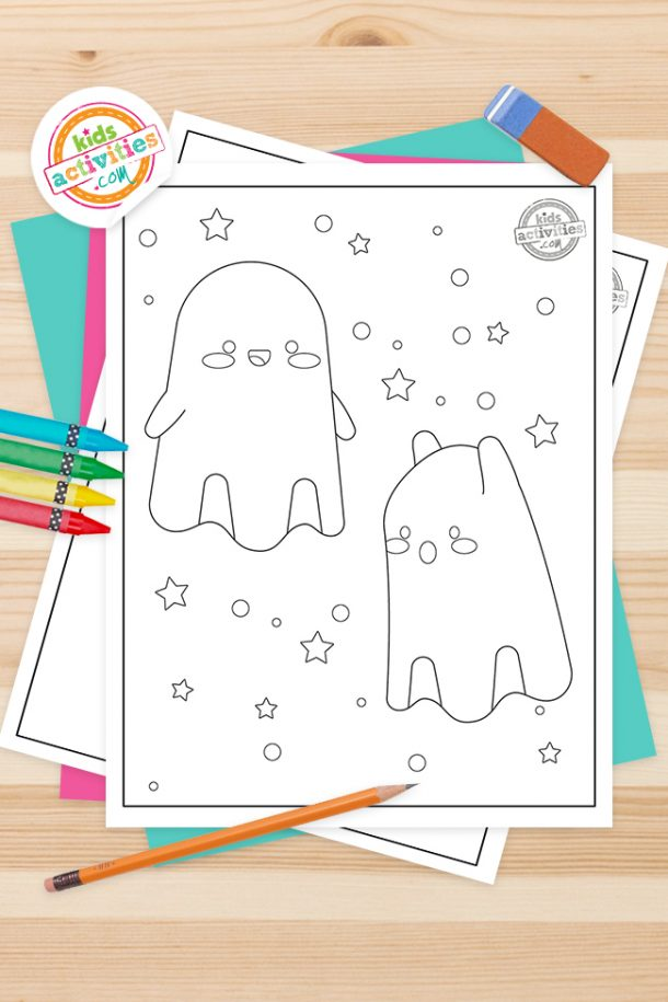 Ghost Coloring Pages Feature Image
