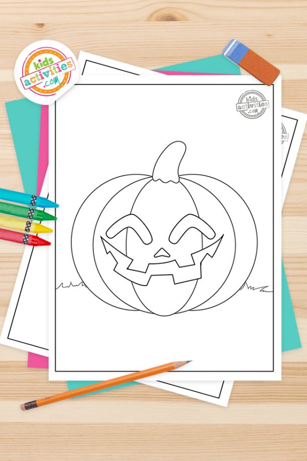 Jack O Lantern Coloring Pages Feature Image