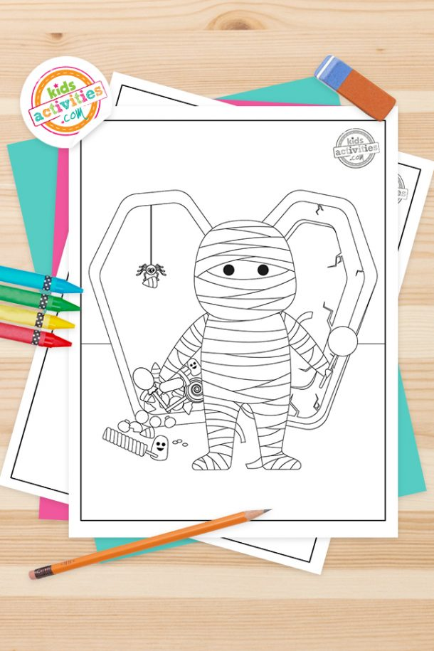 Mummy Coloring Pages Feature Image