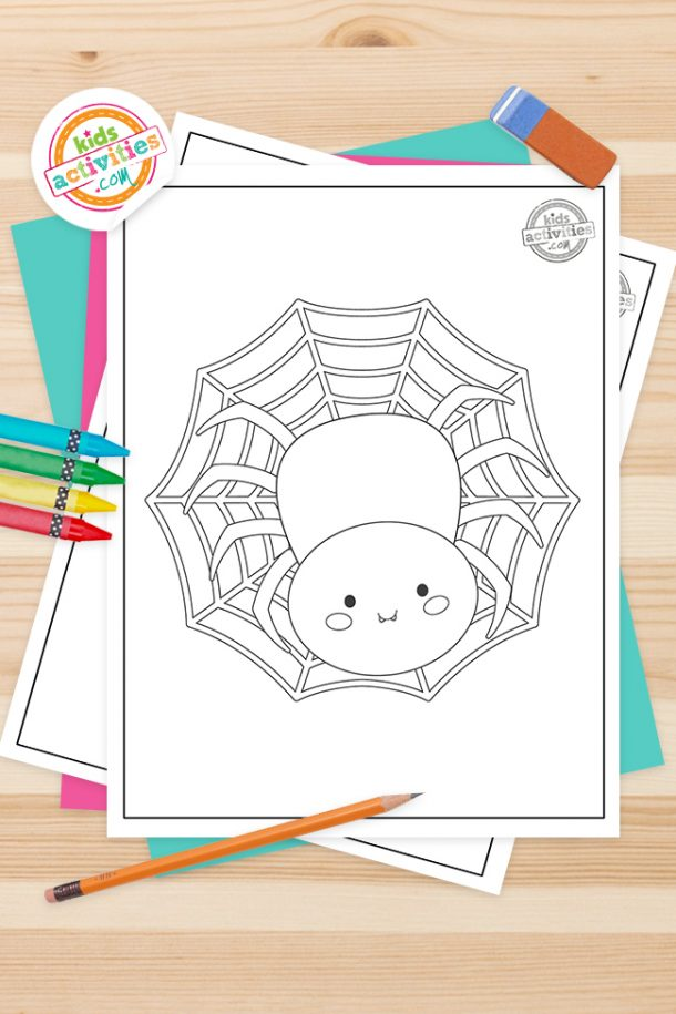Spider Coloring Pages Feature Image