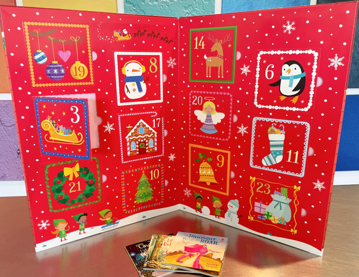 The Book Advent Calendar Stands up on its own - Kids Activities Blog