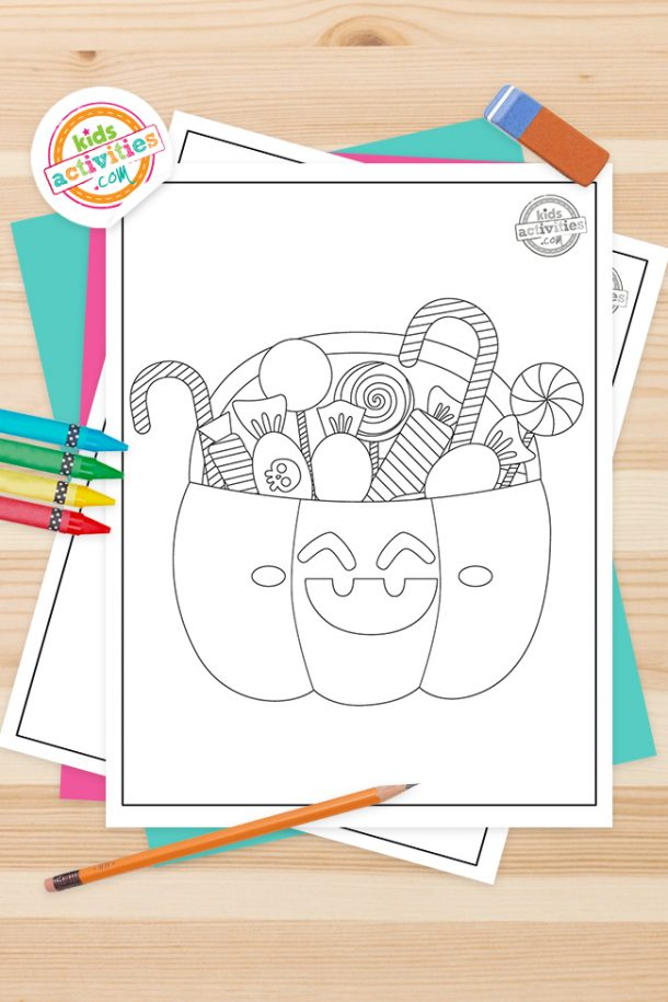 Trick Or Treat Coloring Pages Feature Image