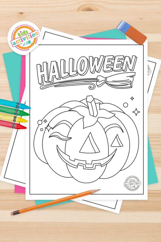 Vintage Halloween Coloring Pages Feature Image