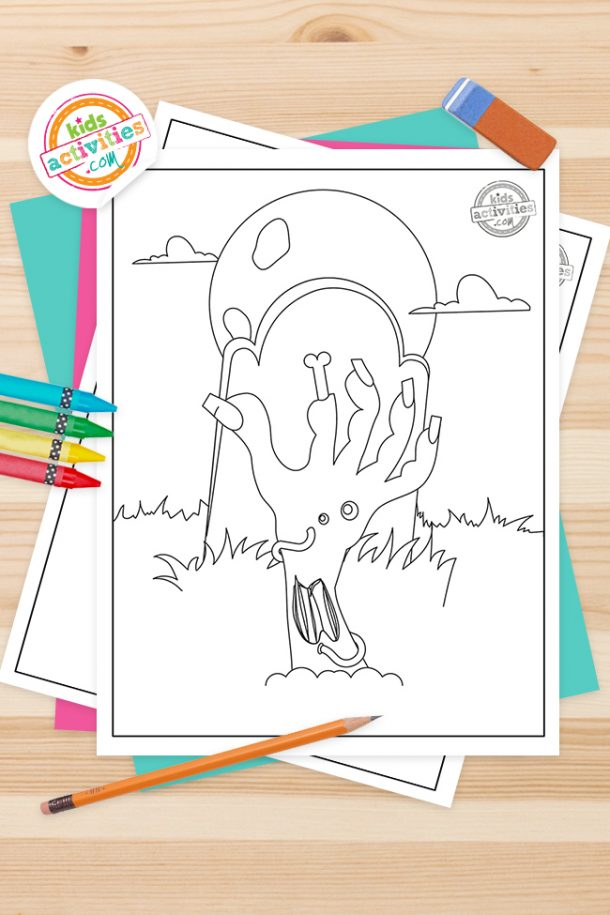 Zombie Coloring Pages Feature Image