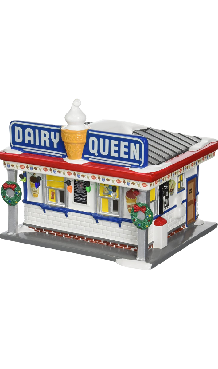 You Can Get A Light-Up Dairy Queen Building To Complete Your Christmas Village