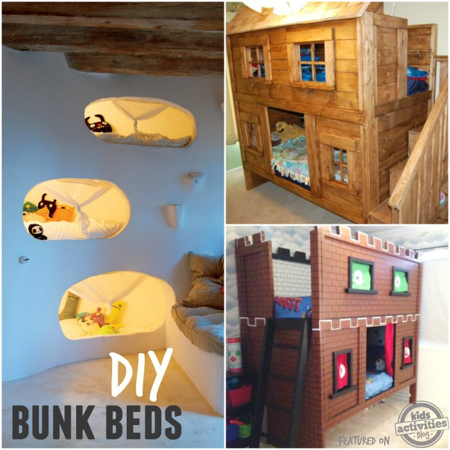 DIY bunk beds that you can actually make...they are reasonable and doable and have great instructions