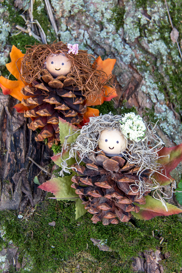 Woodland Pinecone Fairy Nature Craft for Kids